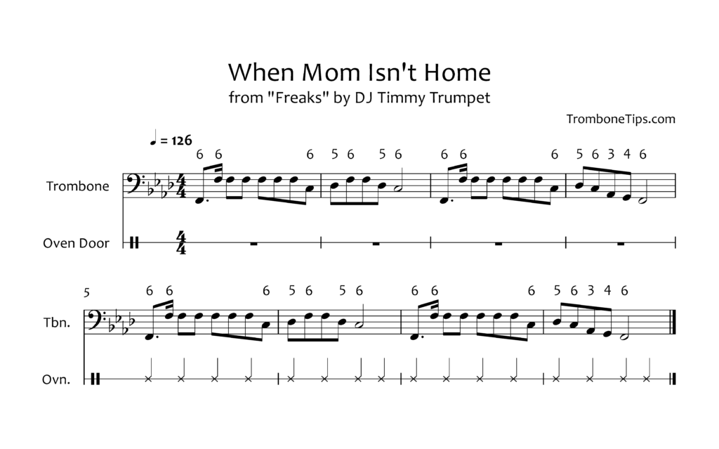Trombone and Oven Song Sheet Music